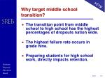 why target middle school transition