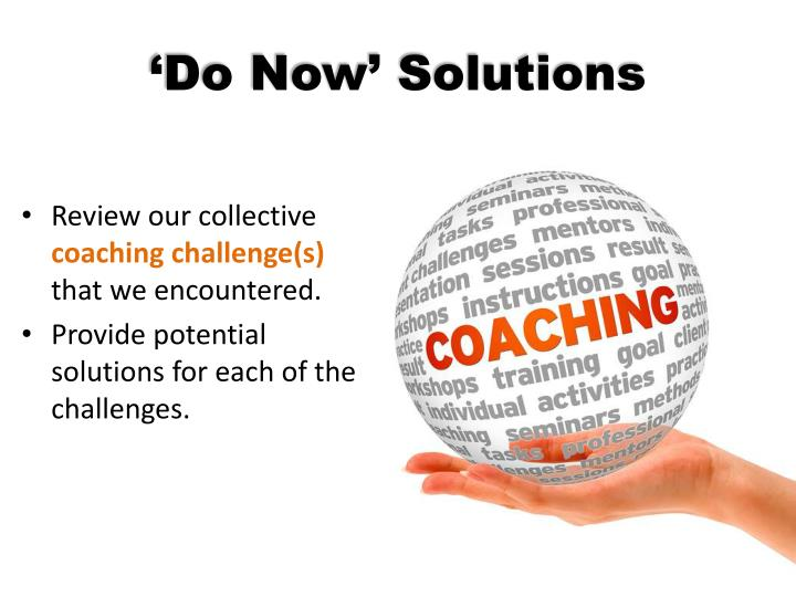 'Do Now' Solutions