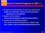 how to convert programs to awt 1 11