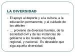 la diversidad
