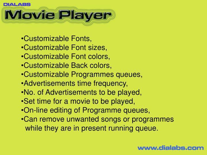 Customizable Fonts,