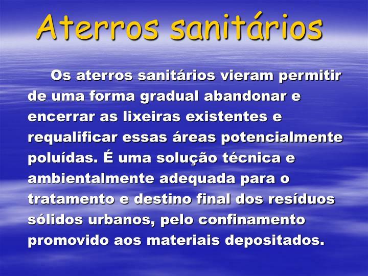 Aterros sanitários