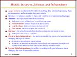 models instances schemas and independence