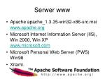 serwer www