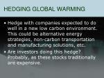 hedging global warming