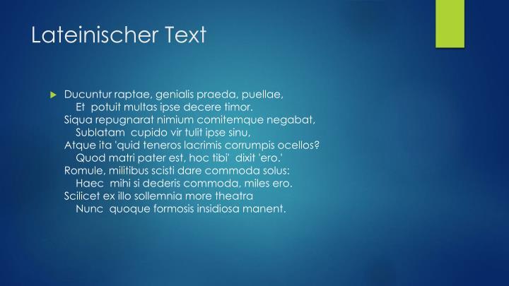 Lateinischer text