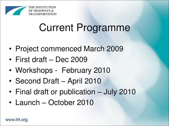 Current Programme