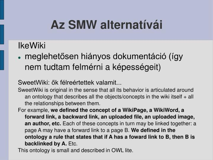 Az SMW alternatívái