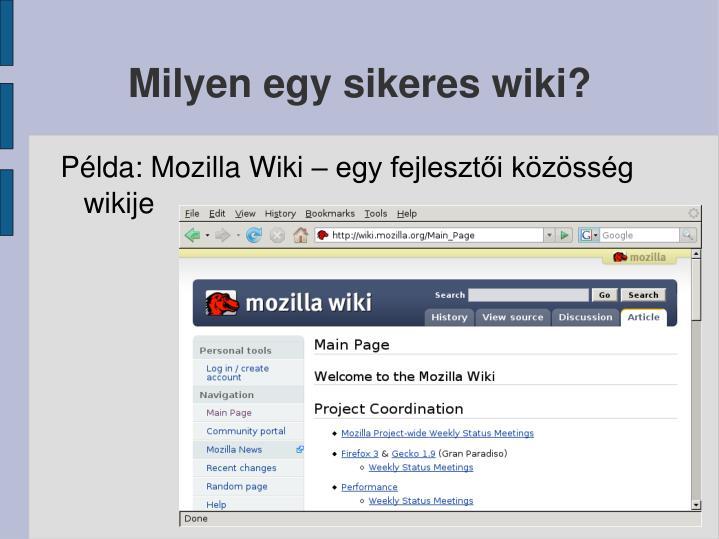 Milyen egy sikeres wiki?