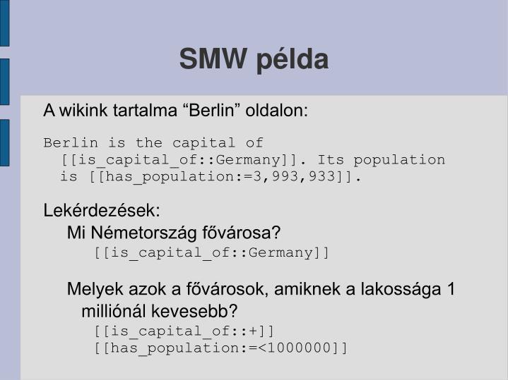 SMW példa