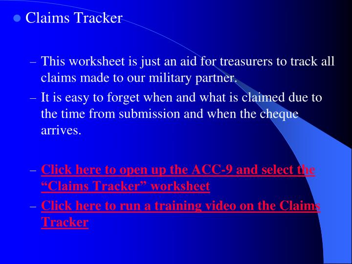 Claims Tracker