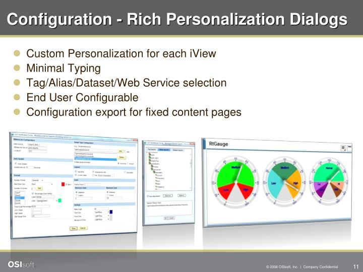 Configuration - Rich Personalization Dialogs