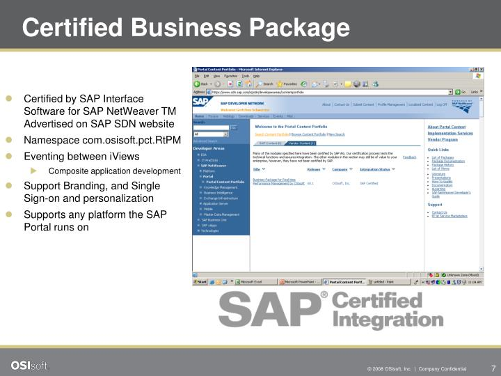 Certified Business Package