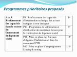 programmes prioritaires propos s1