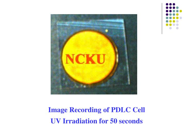 Image Recording of PDLC Cell