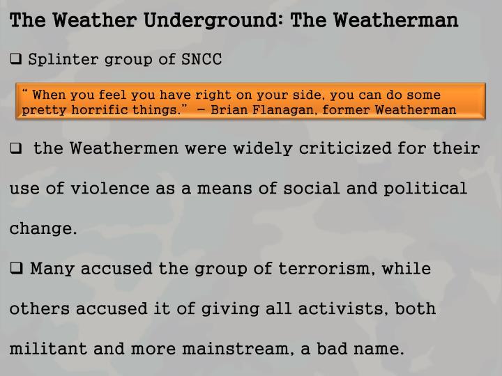 The Weather Underground: The Weatherman