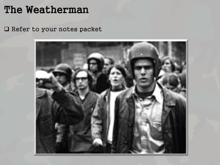 The Weatherman