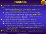 partitions