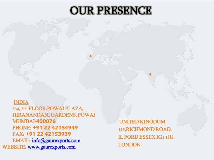 OUR PRESENCE