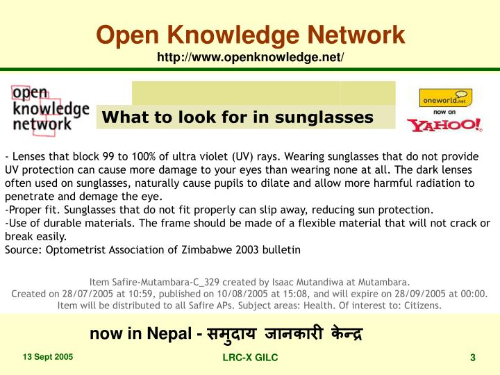Open knowledge network http www openknowledge net