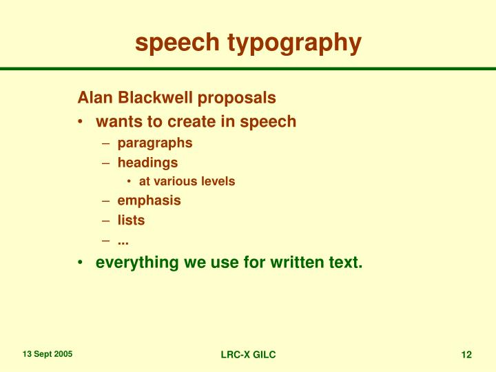 speech typography