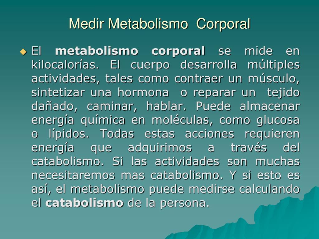 como se mide metabolismo basal