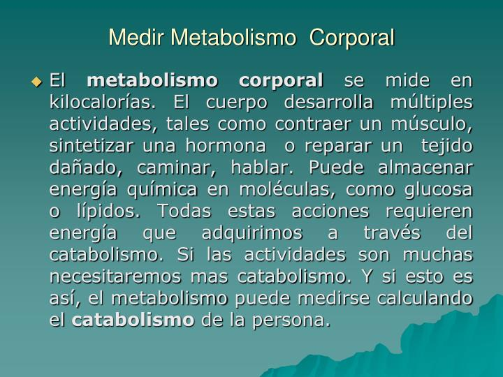 Medir metabolismo corporal