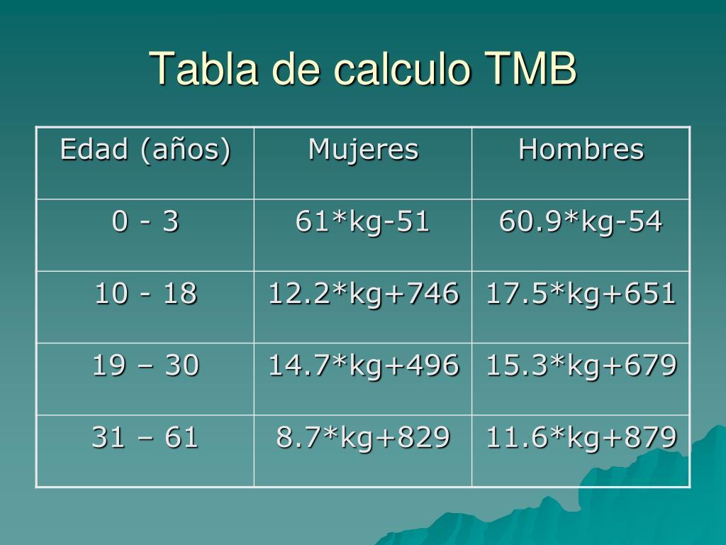 Qué esperar de Metabolismo basale