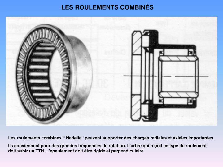 LES ROULEMENTS COMBINÉS