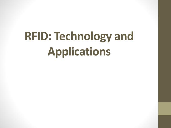 rfid technology and applications n.