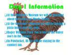 day 1 information