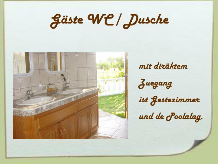 Gäste WC / Dusche