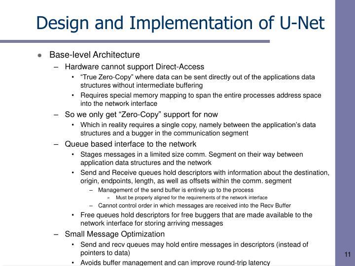 Design and Implementation of U-Net