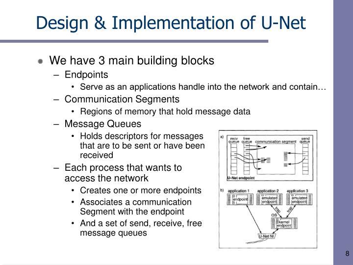 Design & Implementation of U-Net