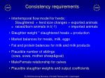 consistency requirements
