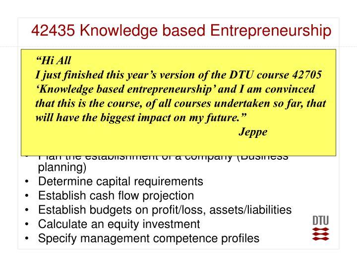 42435Knowledge based Entrepreneurship