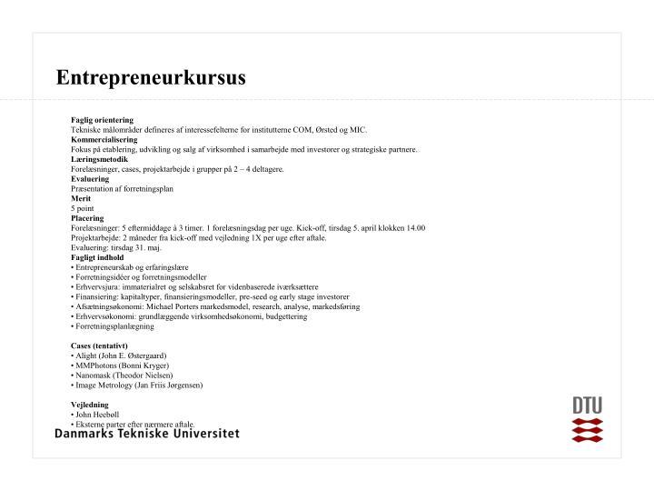 Entrepreneurkursus