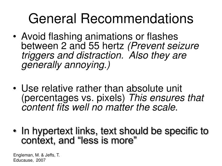 Avoid flashing animations or flashes between 2 and 55 hertz