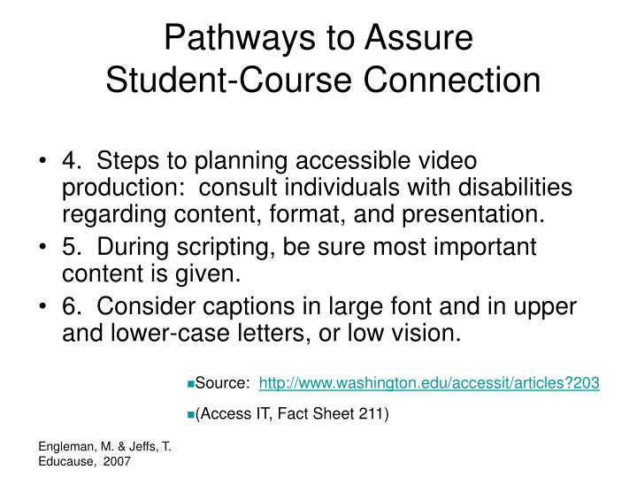 Pathways to Assure