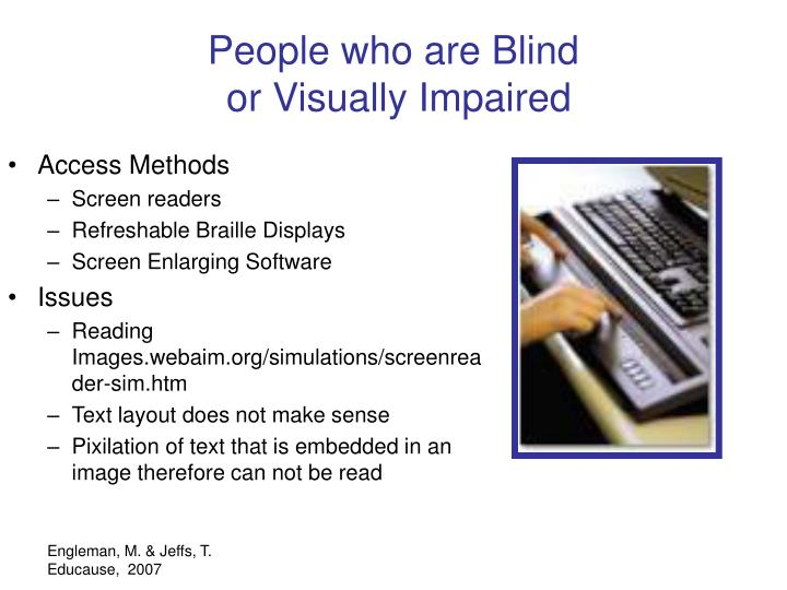 People who are Blind