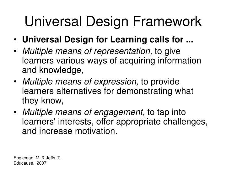 Universal Design Framework