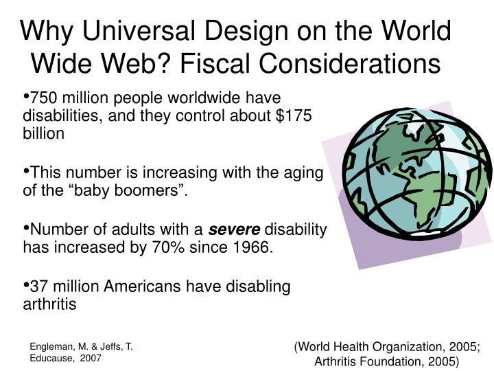 Why Universal Design on the World Wide Web? Fiscal Considerations
