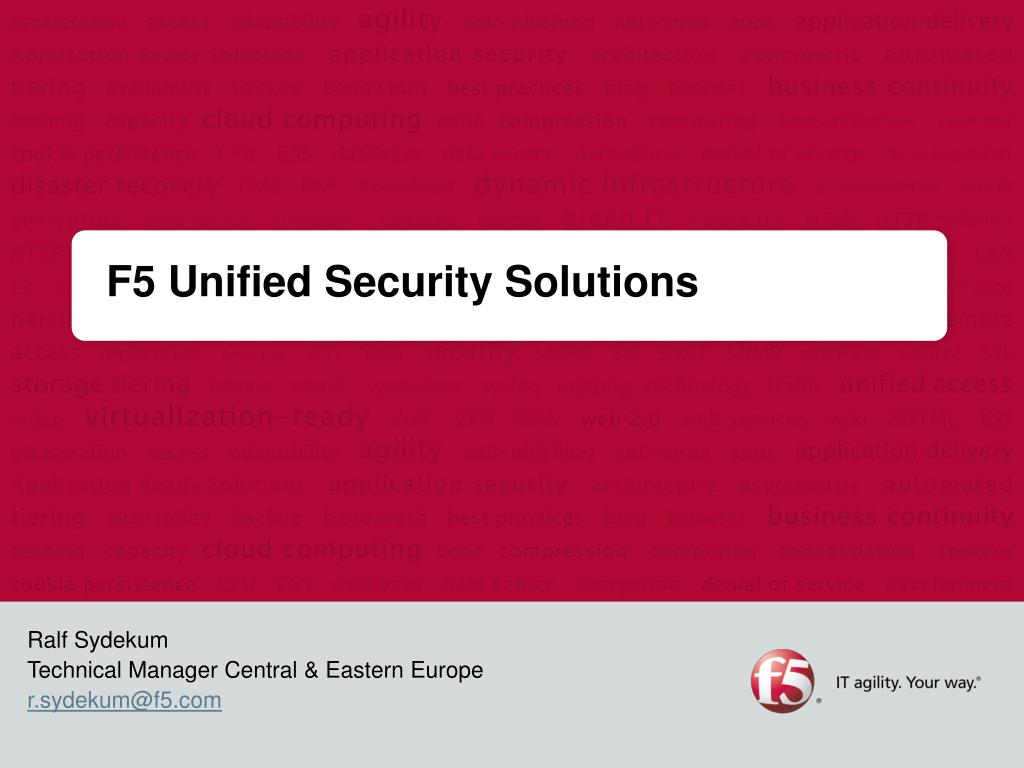 PPT - F5 Unified Security Solutions PowerPoint Presentation - ID:4968495