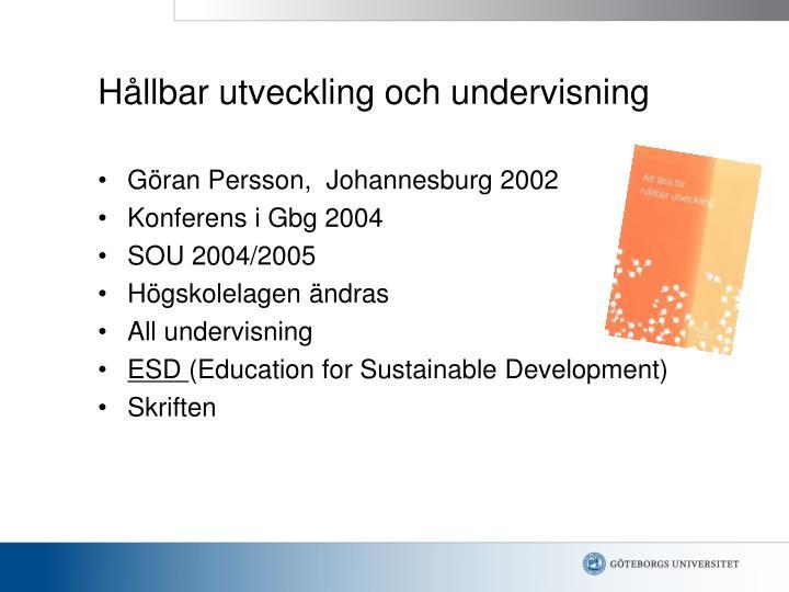 Hållbar utveckling och undervisning