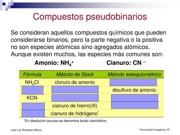 Compuestos pseudobinarios