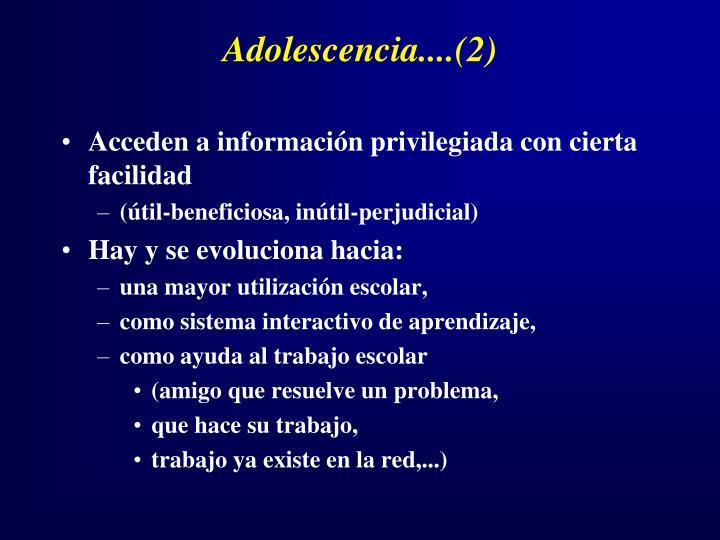 Adolescencia....(2)