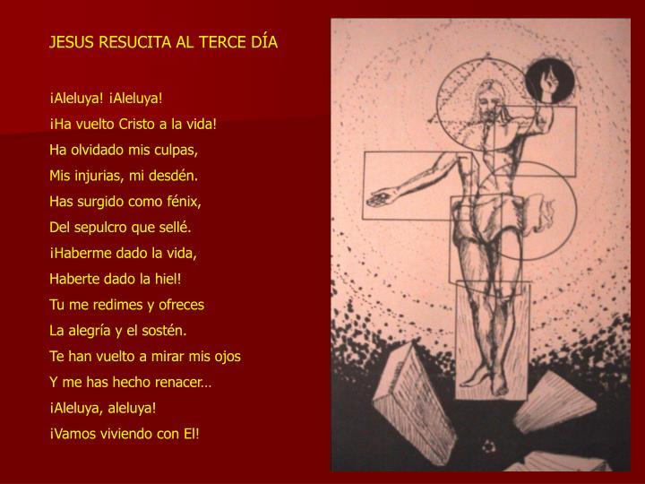 JESUS RESUCITA AL TERCE DÍA