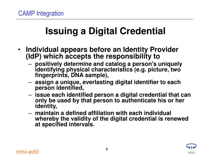 Issuing a Digital Credential