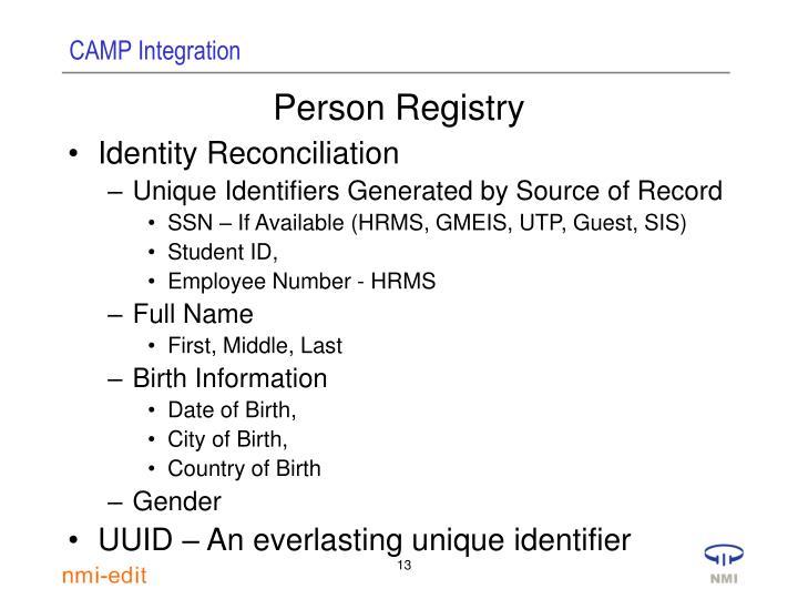 Person Registry