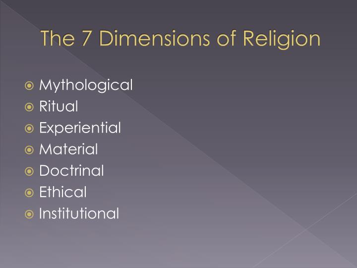 dimensions of religions A world-renowned religion scholar explores the world's major religions and comparable secular systems of thought in this unusually wide-ranging and accessible work.